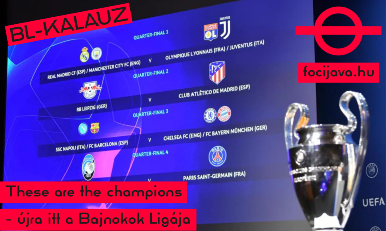 These are the champions – újra itt a Bajnokok Ligája