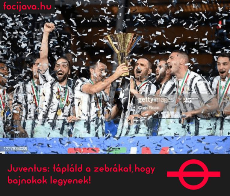 Juventus: tápláld a zebrákat, hogy bajnokok legyenek!