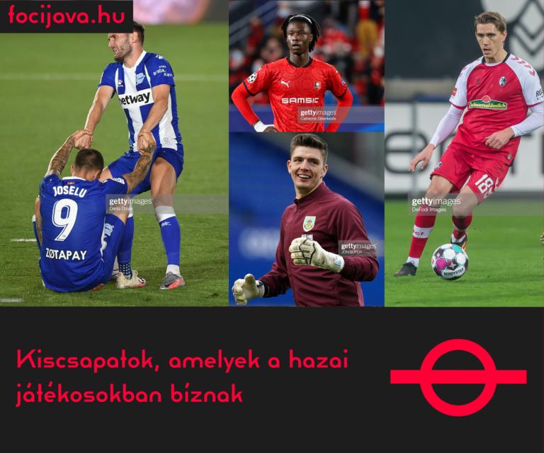 Kiscsapatok, amelyek a hazai játékosokban bíznak