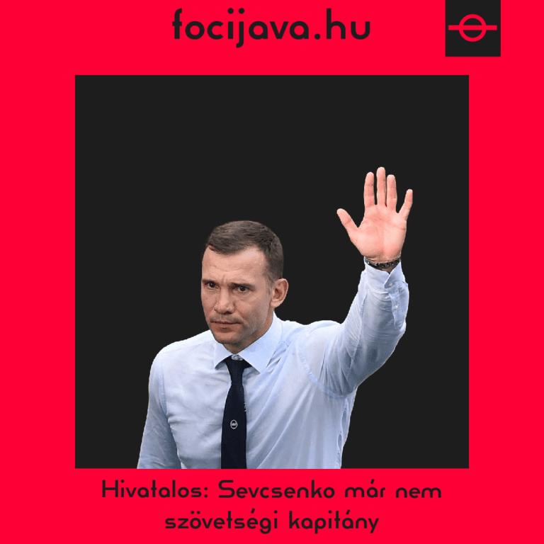 Már nem Sevcsenko irányítja az ukrán válogatottat